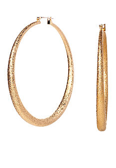 ABS by Allen Schwartz Large Round Hoop Earrings