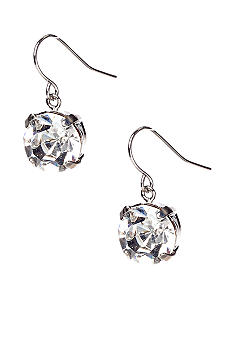 ABS by Allen Schwartz Clear Single Stone Earrings