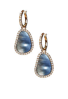 ABS by Allen Schwartz Hoop with Pave Drop Earrings
