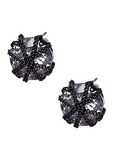ABS by Allen Schwartz Chain Wrap Stud Earrings
