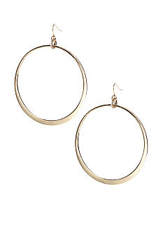 ABS by Allen Schwartz Large Hoop Drop Earrings