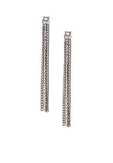 ABS by Allen Schwartz Linear Chain and Stone Earrings