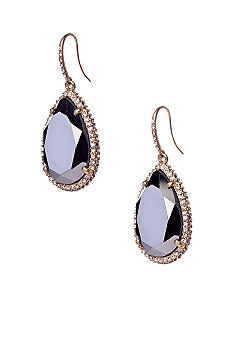 ABS by Allen Schwartz Pave Teardrop Stone Earrings