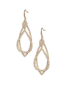 ABS by Allen Schwartz Pave Orbital Earrings