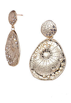 ABS by Allen Schwartz Double Drop Seashell Earrings