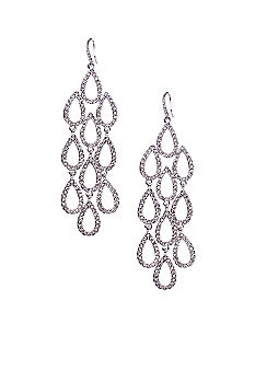 ABS by Allen Schwartz Large Crystal Chandelier Earrings
