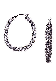 ABS by Allen Schwartz Pave Hoop Earrings
