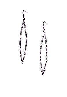ABS by Allen Schwartz Pave Navette Earrings