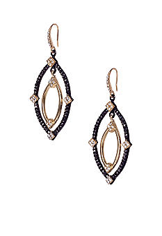 ABS by Allen Schwartz Open Navette Orbital Earrings