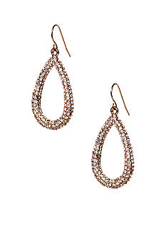 ABS by Allen Schwartz Small Pave Teardrop Earrings
