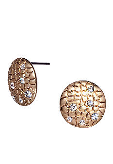 ABS by Allen Schwartz Round Button Stud Earrings