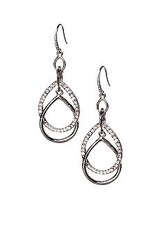 ABS by Allen Schwartz Interlocking Pear Drop Earrings