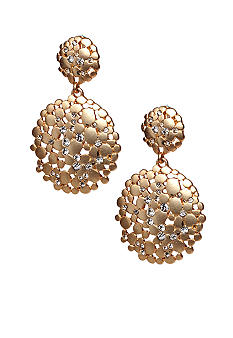 ABS by Allen Schwartz Double Drop Disk Earrings