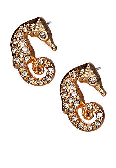 ABS by Allen Schwartz Sea Horse Stud Earrings