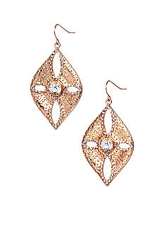 ABS by Allen Schwartz Sand Dollar Drop Earrings