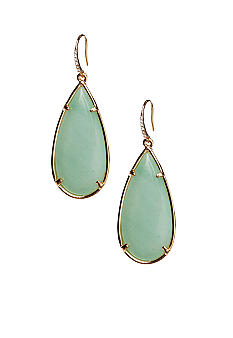 ABS by Allen Schwartz Green Color Teardrop Earrings