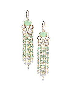 ABS by Allen Schwartz Multi Color Chandelier Earrings