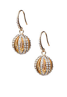 ABS by Allen Schwartz Pave Ball Drop Earrings