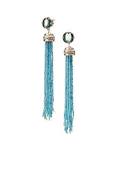 ABS by Allen Schwartz Seed Bead Tassel Earrings