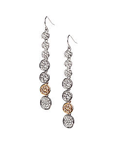 ABS by Allen Schwartz Linear Pave Disk Earrings