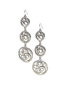 ABS by Allen Schwartz Triple Drop Openwork Linear Earrings
