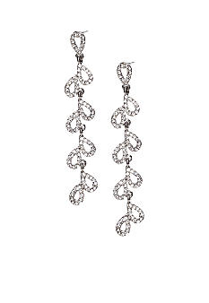 ABS by Allen Schwartz Cascading Teardrop Linear Earrings
