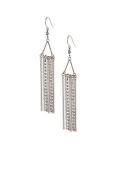 ABS by Allen Schwartz Chain Linear Earrings