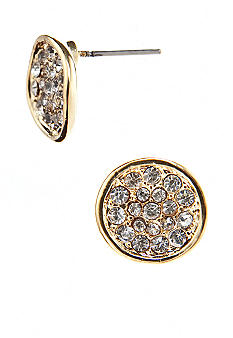 ABS by Allen Schwartz Gold Crystal Stud Earrings