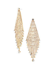 ABS by Allen Schwartz Rhinestone Chandelier Earrings