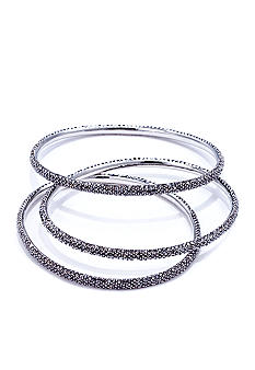 ABS by Allen Schwartz Three Piece Pave Bangles