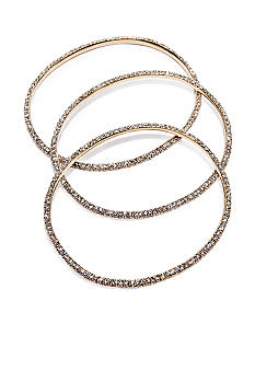 ABS by Allen Schwartz Pave Bangle 3 Piece Bracelet Set