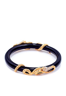 ABS by Allen Schwartz Black Snake Wrap Resin Bangle