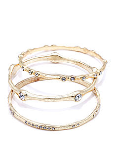 ABS by Allen Schwartz 3 Piece Bangle Set with Stones
