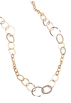 ABS by Allen Schwartz Open Link Strand Necklace