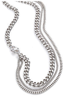 ABS by Allen Schwartz Adjustable Multi Row Chain and Station Necklace