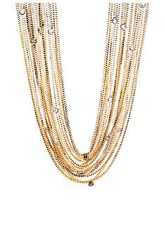 ABS by Allen Schwartz Multi Row Box Chain Necklace