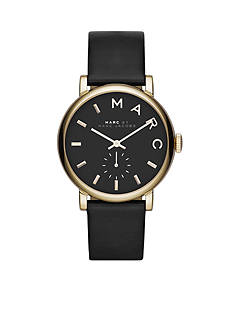 Marc Jacobs Women's Baker Black Leather Three Hand Watch