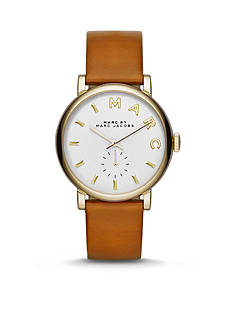 Marc Jacobs Women's Baker Brown Leather Three Hand Watch