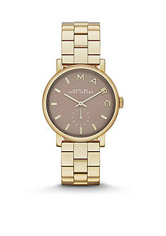 Marc Jacobs Women's Baker Gold-Tone Three Hand Watch