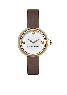 Marc Jacobs Women's Courtney Brown Leather Watch