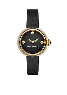 Marc Jacobs Women's Courtney Black Leather Watch