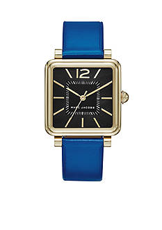 Marc Jacobs Women's Vic Blue Leather Three Hand Watch