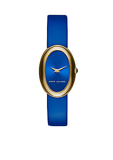 Marc Jacobs Women's Two-Hand Blue Leather Strap Watch