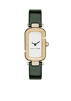 Marc Jacobs Women's Monogram Gold-Tone and Green Patent Leather Watch