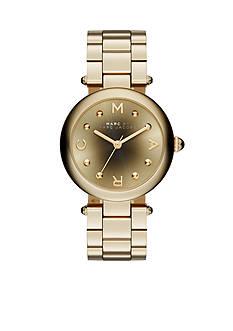 Marc Jacobs Women's Dotty Gold-Tone Three Hand Watch