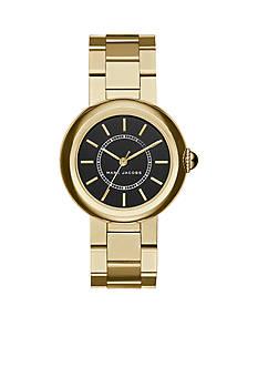 Marc Jacobs Women's Courtney Gold-Tone Three-Hand Bracelet Watch