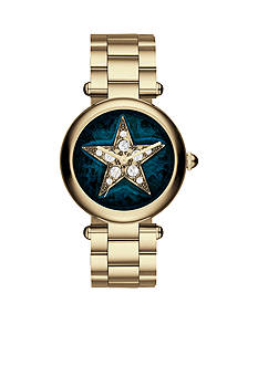 Marc Jacobs Women's Dotty Gold-Tone Star Dial Bracelet Watch