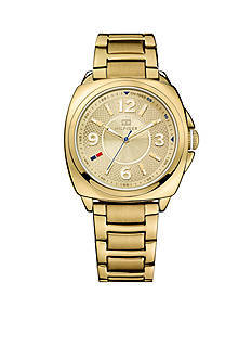 Tommy Hilfiger Women's Casual Sport Gold Tone Watch