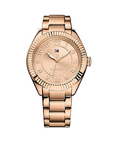 Tommy Hilfiger Women's Casual Sport Rose Gold-Tone Watch