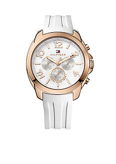 Tommy Hilfiger Women's Sport Multifunction White Silicon Watch